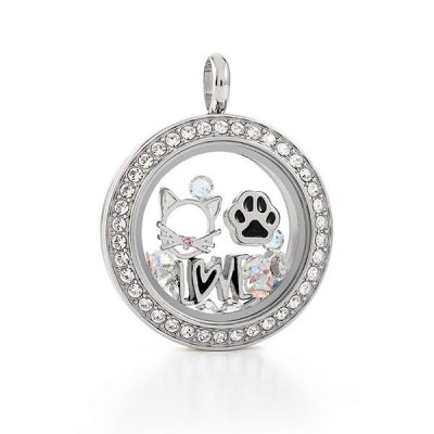 Cat Charm Locket Origami owl canada