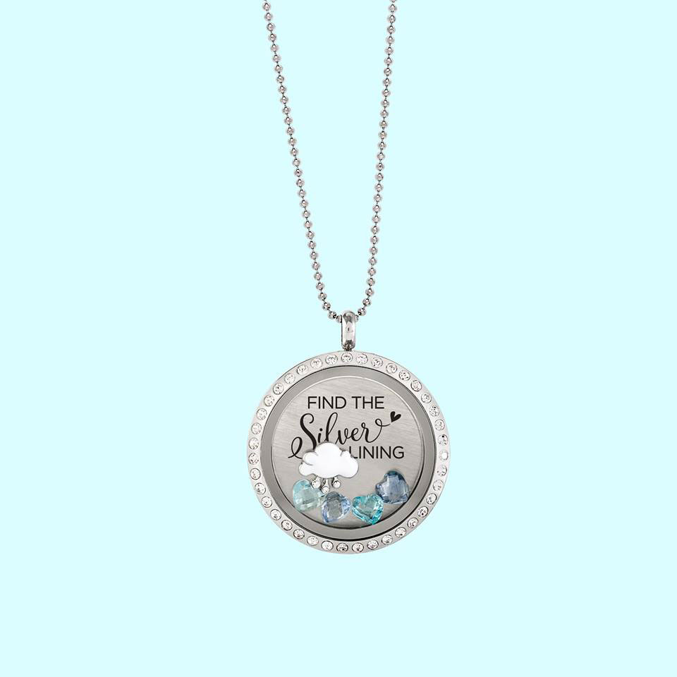 hand necklace handmade gift com floating locket dp lockets memory amazon stamped custom charm for oma