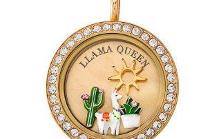 Llama Charm Locket Origami Owl Canada