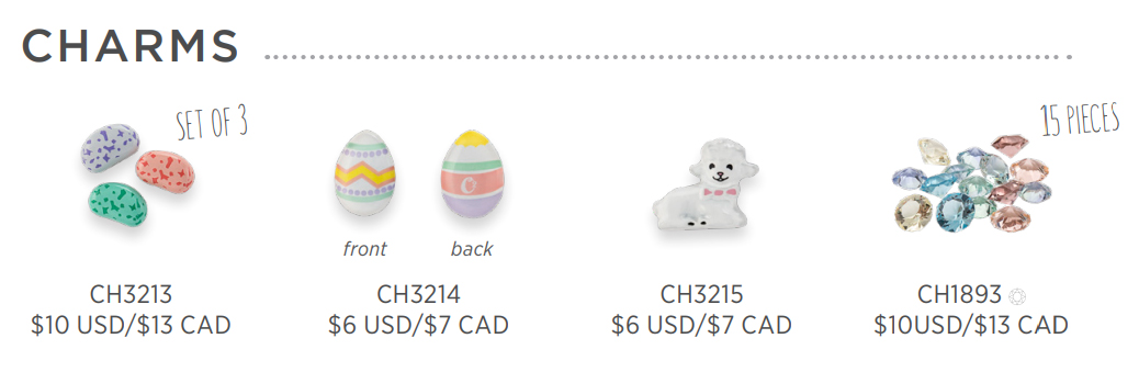 New 2018 Easter Collection From Origami Owl canada Charms