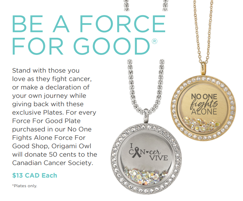 Origami Owl Force For Good Canadian Cancer Society