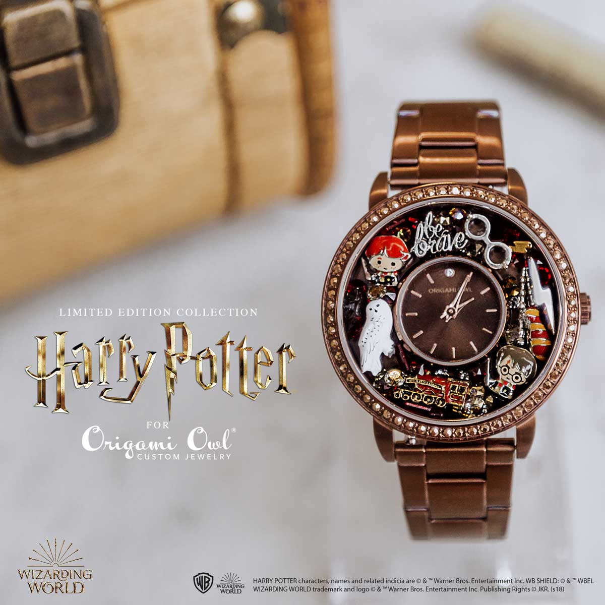 Harry Potter Jewellery watch origami Owl