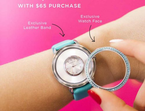 Exclusive Blue Origami Owl Locket Watch