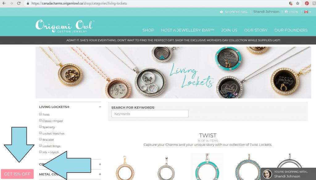 Origami Owl Referral Program Canada