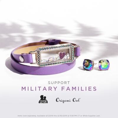 Support Canadian Military Families origami owl canada